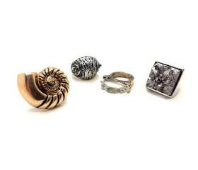 Metallic Beach Ring Set