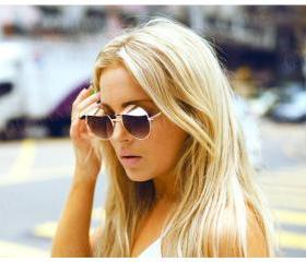 Retro Cap Round Sunglasses