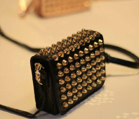 All Studded Shoulder Bag / Handbag / Clutch (Black)