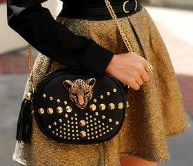 Leopord Studded Bag