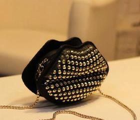 Studded Lips Bag