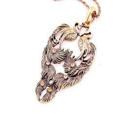 Phoenix with Rhinestones Necklace