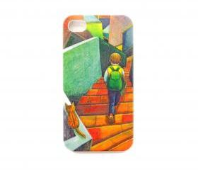 Is he walking up or down the stairs? iPhone 4/4s Case
