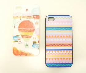 Hot Air Balloons / Chevron iPhone 4/4S Case