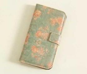 Vintage Pastel Blue Roses iPhone 4/4s Cover