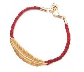Golden Feather Woven Bracelet