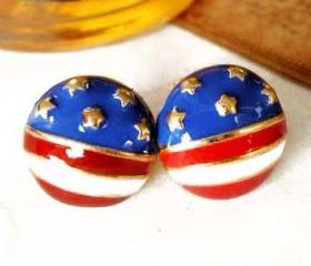 USA! Stud Earrings