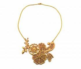 Baroque Floral Collar Necklace