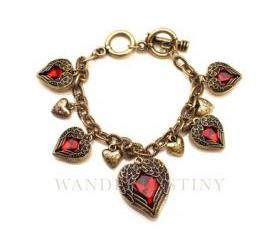 Feather Heart Charms Bracelet