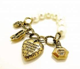 'Love the God your Lord with all your heart' Charms Bracelet