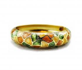 Multi-colored Vitreous Enamel Bangle