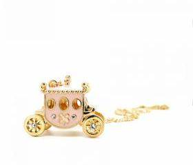 Pink Coach Necklace