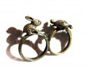 Rabbit and Turtle Ring