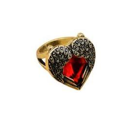 Feather Heart Ring