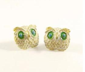 Retro Owl Stud Earrings