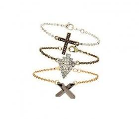 Metallic Crosses and Arrow Bracelet Stack