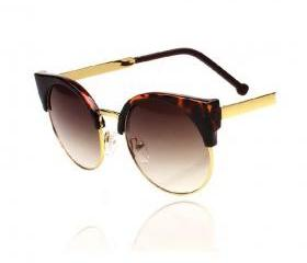 Retro Half-frame Round Sunglasses (2 Colors!)