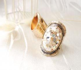 Light Gold Glitter Ring
